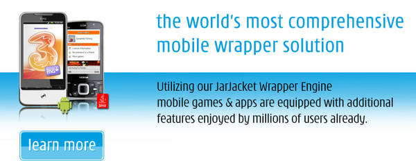 Extend and enhance original JavaME and Android games and applications utilizing the SYNAPSY JarJacket Wrapper Engine
